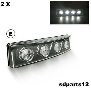10 x 12//24V 9 LED FEUX DE GABARIT  CARAVANE BUS CAMION SCANIA IVECO DAF// BLANC