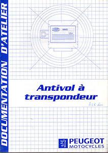 Manuel D'atelier Peugeot Antivol A Transpondeur 100% D'Origine