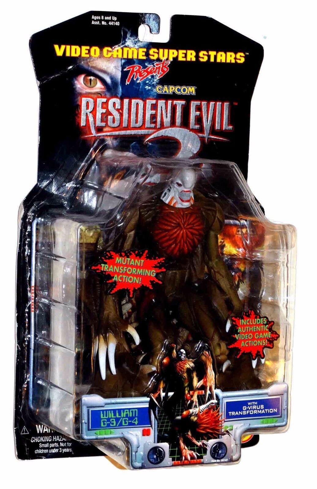 Resident evil 2 william g - 3   g - 4 - actionfigur moc   versiegelt 1998 spielzeug biz   capcom
