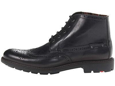 on sale 2b0a8 0b325 Lloyd Gavino Men's Wingtip Black Leather Boots Made in Germany! NEW US 12 D    eBay