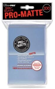 Ultra Pro Deck Protector Sleeves Pro-Matte 100 Clear for standard sized cards