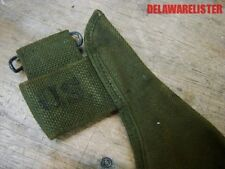 *US Army Military OD Green Canvas Pick Axe Carrier/Holder/Belt Case Pouch Cover