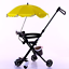 BABY SUN UMBRELLA PARASOL FOR PRAM PUSHCHAIR STROLLER RAIN PROTECTION COVER NEW