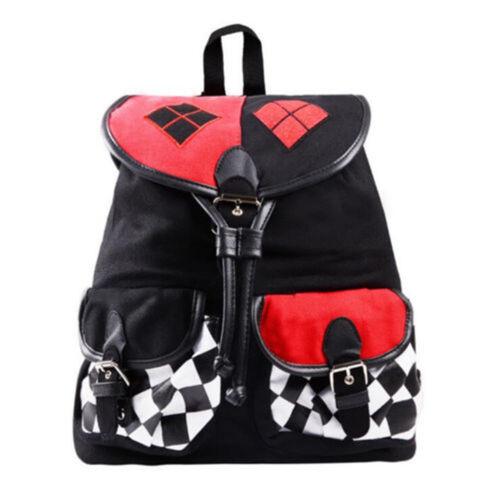 Movie Show Suicide Squad Harley Quinn Cos Backpack Knapsack Shoulder Schoolbag