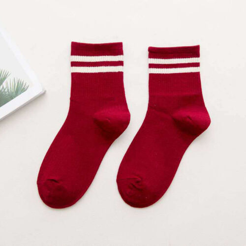 Fashion Women Cotton Striped Socks Soft Solid Short Sport Casual Hosiery Socks A