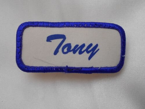 TONY  USED SILK SCREEN VINTAGE SEW ON NAME PATCH TAGS ASSORTED COLORS