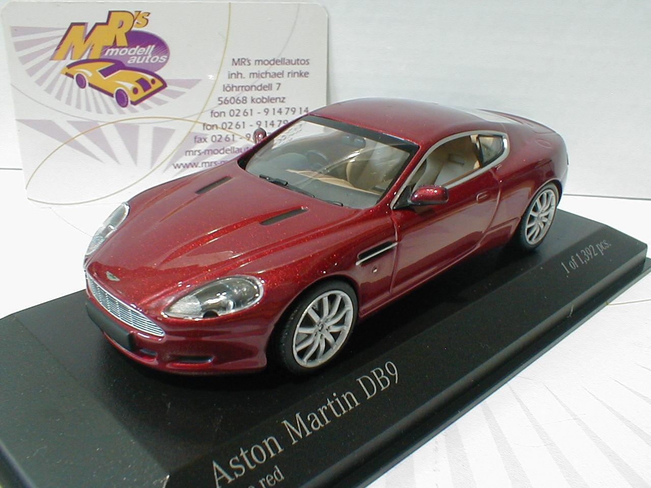 Minichamps 400137340 - Aston Martin DB9 Baujahr 2009   redmetallic   1 43