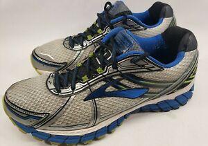 Brooks-Adrenaline-GTS-15-Running-Shoes-Men-Size-11M-Blue-Silver-Green-110181D168