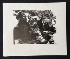 Günther Knipp, ORPHELIA, taglio di legno, 1963, firmato a mano
