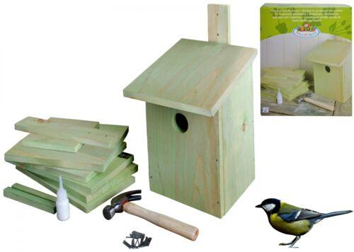 BASTELSATZ NISTKASTEN Bausatz Bastelset Kinder Vogelhaus basteln Kohlmeise Holz