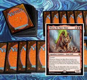 mtg-RED-ILHARG-COMMANDER-EDH-DECK-Magic-the-Gathering-rare-cards-glorybringer