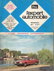 RTA-revue-technique-l-039-expert-automobile-n-171-SIMCA-TALBOT-SOLARA