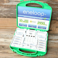 Panasonic Nimh Eneloop Rechargeable Battery Charger Bq-cc17 8 Aa 4 Aaa 2 D 2 C