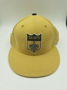 New-Orleans-Saints-Fitted-Size-7-1-4-Mitchell-amp-Ness-Hat-Cap-NFL-Football