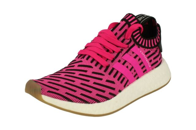 88fd23bbcab26 adidas NMD R2 PK SNEAKERS Fuchsia Black White By9697 41-1-3 Pink for ...