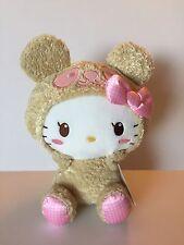 "Brand NEW 12"" Hello Kitty Brown Panda Bear Plush Doll Sanrio"