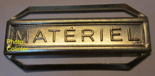 médaille Agrafe en métal blanc  pour décoration France MATERIEL