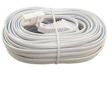 15m RJ11 UK BT Male to UK Female ADSL Broadband Telephone Socket Extension Cable