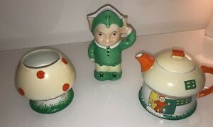 SHELLEY MABEL LUCIE ATTWELL BOO-BOO TEA SET SERVICE POT MILK JUG SUGAR BOWL