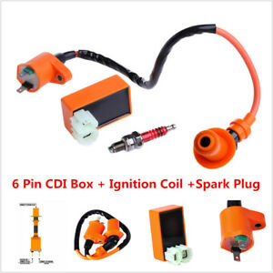 Details about High Performance 6 Pin CDI+Ignition Coil+Spark Plug for GY6  50-150cc Scooter ATV