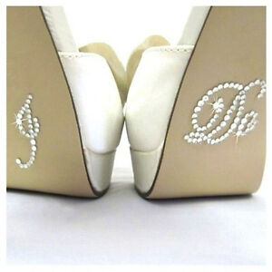 be1fe27966 Details about I DO Diamante Crystal Rhinestone Wedding Shoe sticker decal -  clear colour