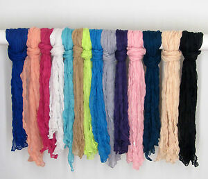 LADIES-PLAIN-CRINKLE-FASHION-SCARF-IN-VARIOUS-COLOURS