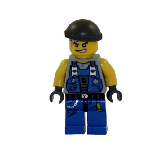 Mint Minifig Mini Figure Power Miners REX w// Knit Cap LEGO Minifigure