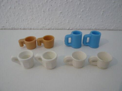 Playmobil Geschirr Becher Tasse Küche Einrichtung Puppenhaus Stadtleben