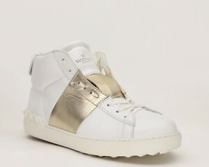 c9aee060bc1c Image is loading Valentino-Garavani-Men-Sneaker-Rockstud-Open -Stripe-Leather-