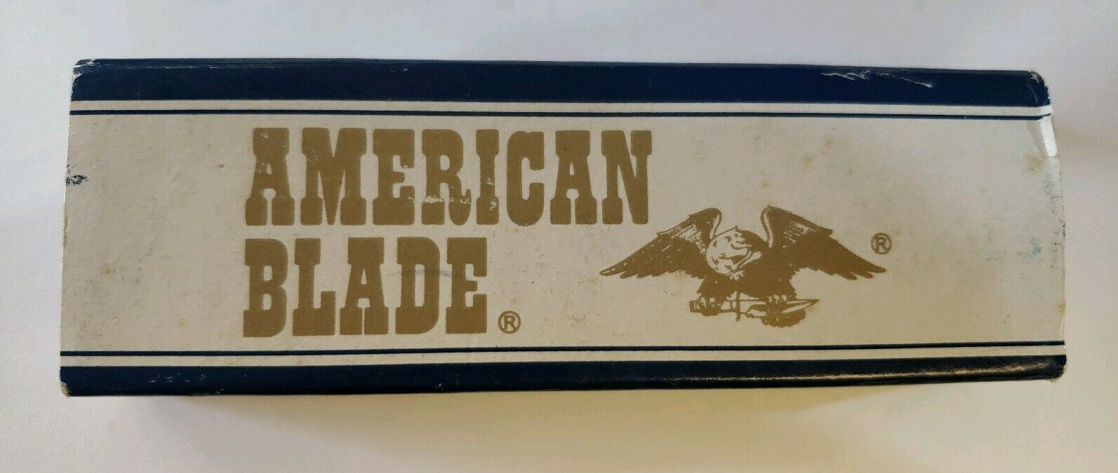 VINTAGE AMERICAN BLADE JAPAN AB-19 BONE STOCKMAN KNIFE KNIVES POCKET