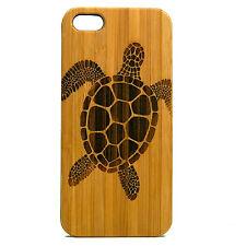 Sea Turtle Case for iPhone 5 5S SE Bamboo Wood Cover Polynesian Tattoo Hawaii