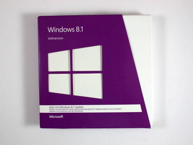 Windows 8.1 32-Bit/x64, Retail-Vollversion, deutsch, SKU: WN7-00925