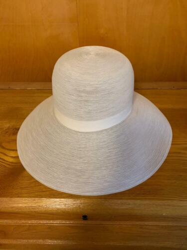 Vintage Patricia Underwood White Wide Brim Sun Hat - image 1