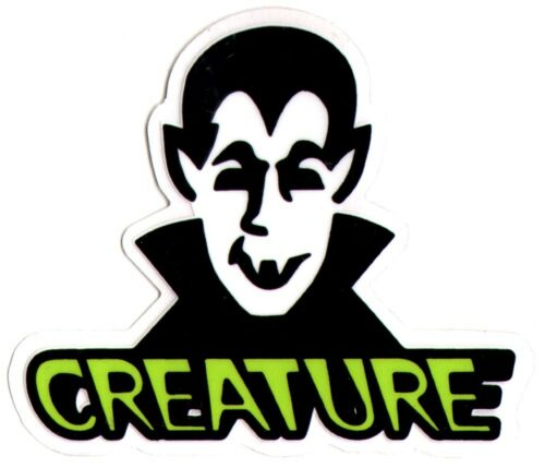Creature skateboard sticker vamp vampire skate snow surf board bmx guitar van