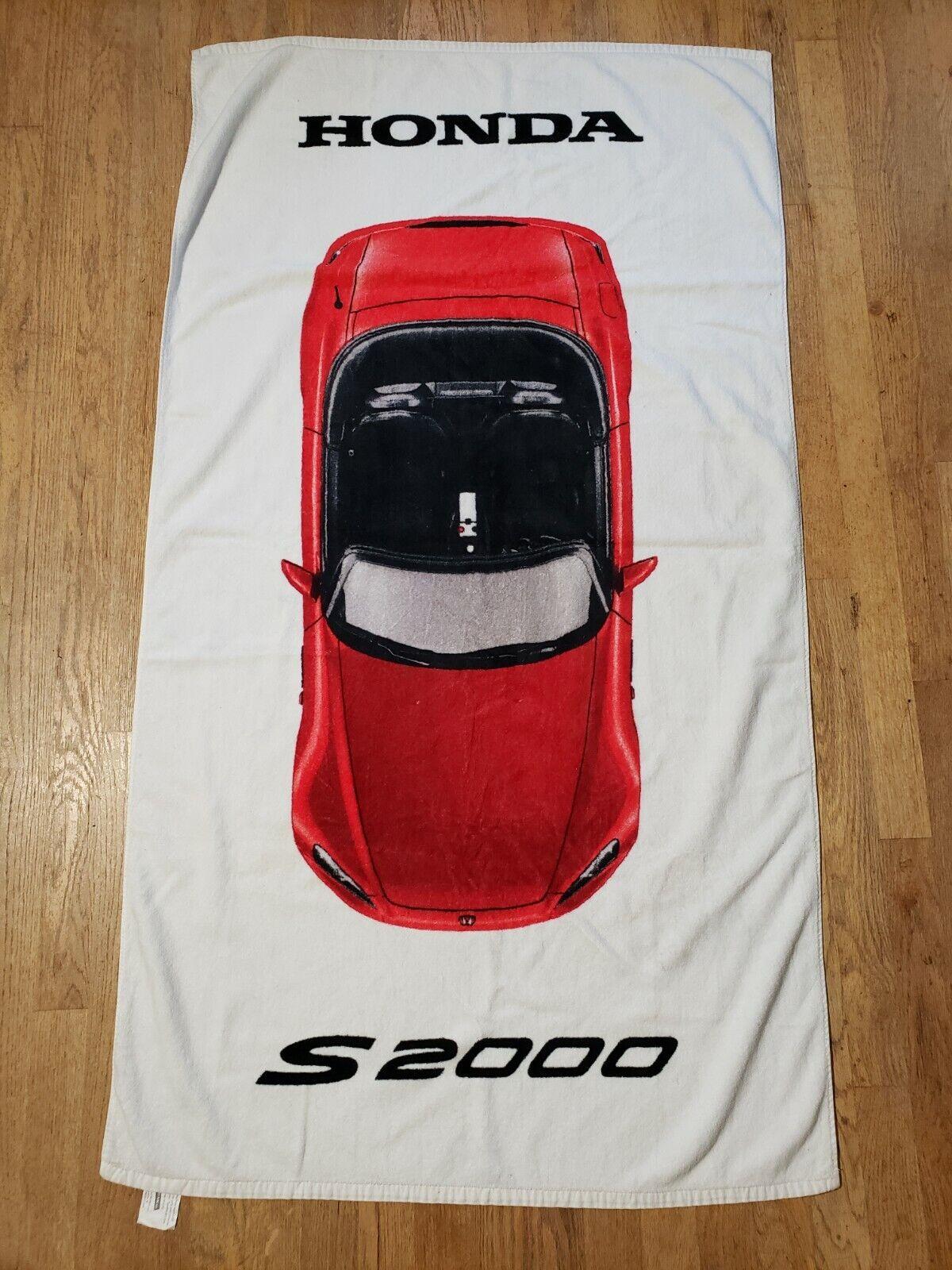 Rare Promos Honda S2000 Promotional Beach Towel Cotton White Red USA