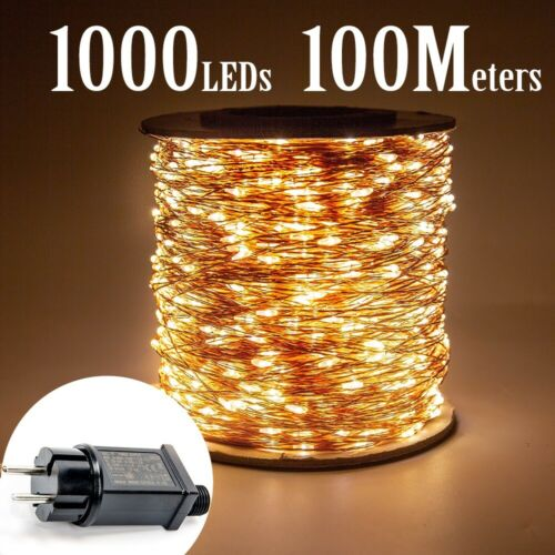 led string fairy lights Christmas Plug In Outdoor wedding Party Garden decore