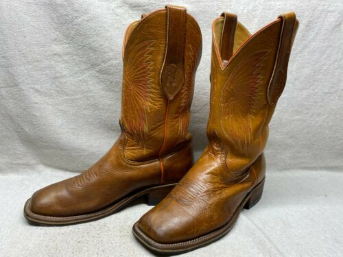 MEN'S 11 ANDERSON BEAN BOOT TAN LEATHER W/ INDIAN