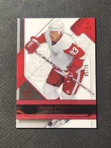 2008-09-UPPER-DECK-SP-GAME-USED-JOHAN-FRANZEN-PLATINUM-RED-ed-5-25