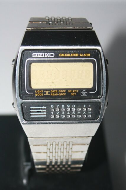 Seiko C359-5000 Calculator Alarm LCD Quartz Vintage Collectible Watch Very rare!