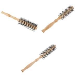3x-Spazzola-in-setola-di-legno-Pettine-per-capelli-rotondo-Spazzola-per