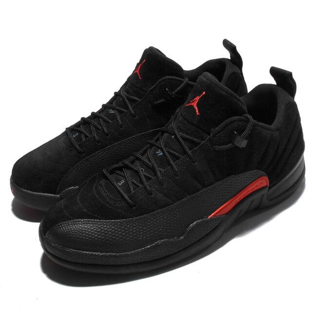 38cc33fd3c4 Nike Air Jordan 12 Retro Low XII AJ12 Black Max Orange Men Basketball  308317-003