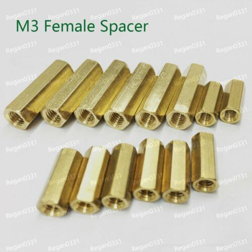 25//50//100pcs Brass M3 Hex Column Standoff Support Spacer Screw Nut for PCB Board