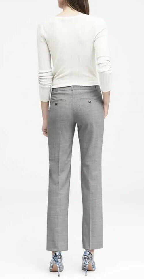 BANANA REPUBLIC Women 14 Logan Trouser-Fit Lightweight Wool Stretch Pants