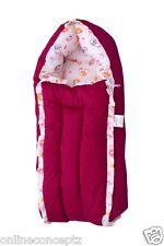J & J Baby Bedding set/ Baby Carrier/ Sleeping Bag / New Born - Floral Magenta