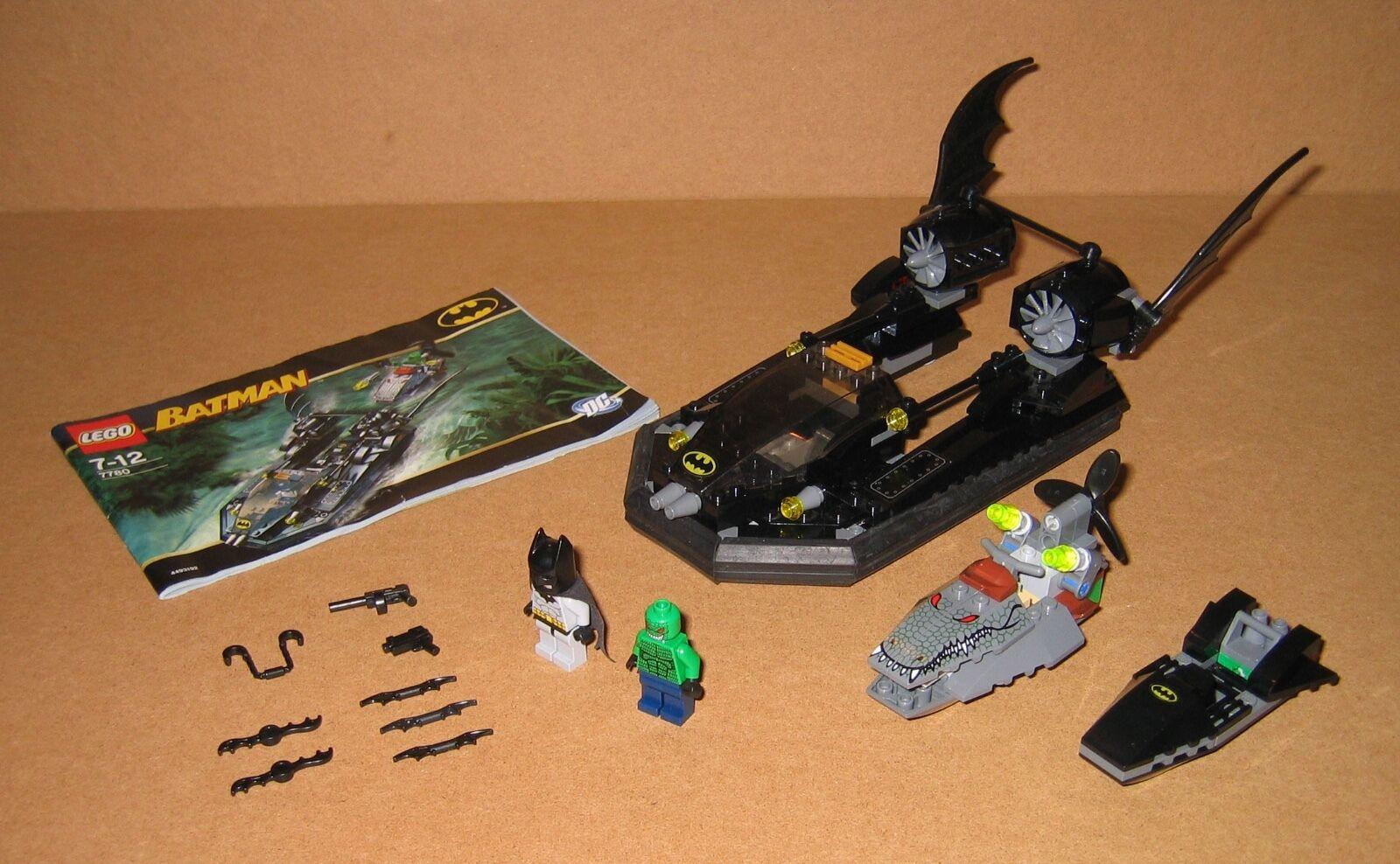 7780 LEGO  Batuomo Batboat Hunt Killer Croc 100% completare Instruction EX COND 2006  Ritorno di 10 giorni