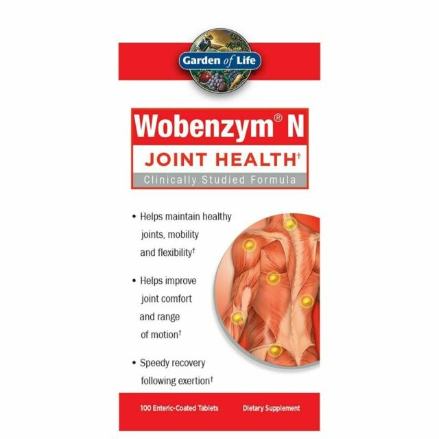 Garden of Life Wobenzym N Joint Health - 100 Tablets - New - Free Shipping