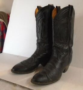 3afc151eb53 Tony Lama Men s Black Leather Western Cowboy Boots Size 8.5 D made ...