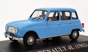 Altaya-Escala-1-43-Carro-Modelo-AL4LB-1962-Renault-4L-Azul