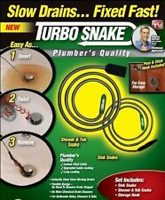 Turbo Snake Plumbers Pro Quality No Chemical Drain Cleaner Unclog Sink Tub Drain