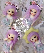 "New 5""-6"" 14cm BJD Purple Fabric Fur Wig For AE PukiFee Lati 1/8 Doll BJD Wig"